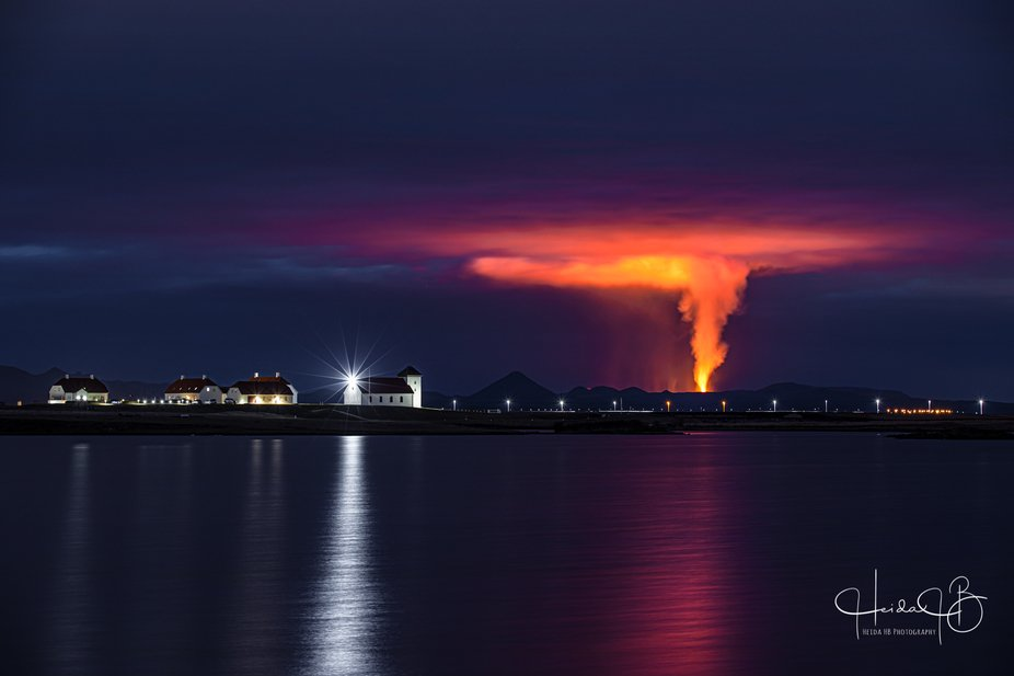 Iceland's President lives there and has a fantastic view of our latest Volcanic eruption!