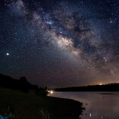 Milkyway over lower Lake Mary in Flagstaff, Arizona. Captured with a Nikon Z7.
