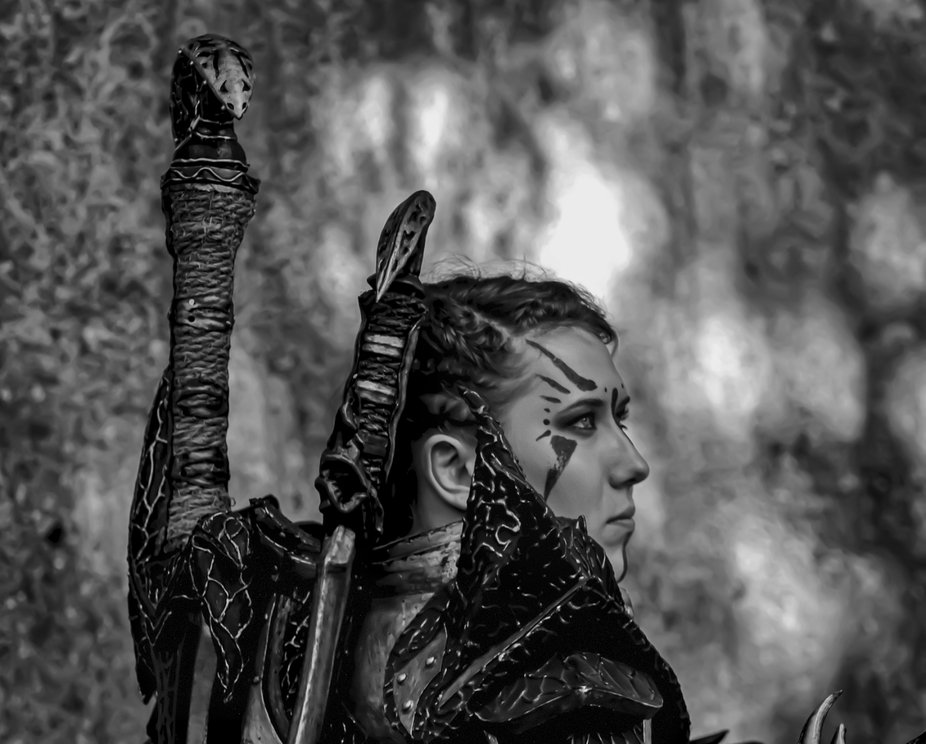 Young woman warrior - LARP