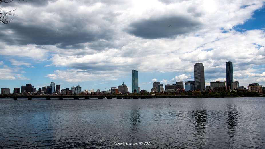 Boston Skyline as seen from the Cambridge side of the river