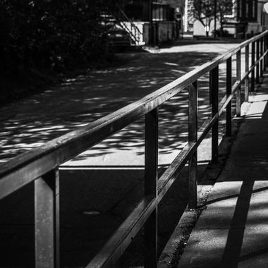 Pathway with railing