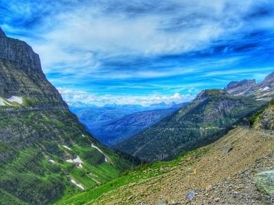Glacier National Park in all it's emerald splendor.
