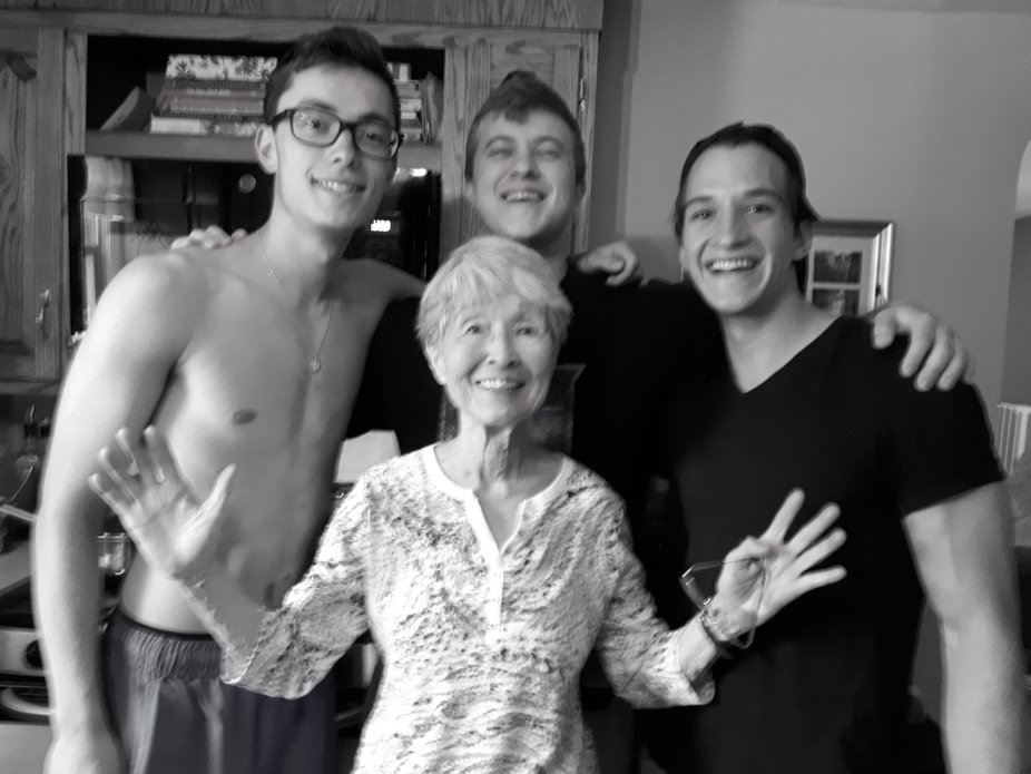 A surprise visit to Gramma's house!