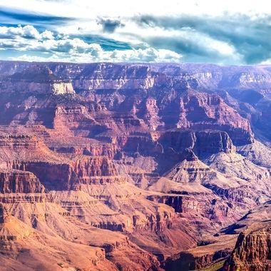 Rain Storm at the Grand Canyon