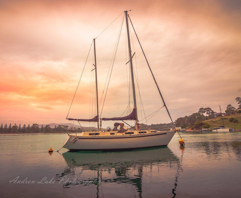 Yacht at Narooma NSW