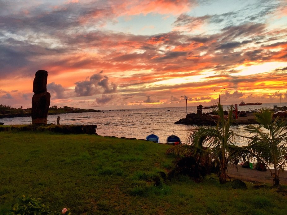 We spent 39 days in Easter Island sailing