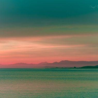Sunset in false colors