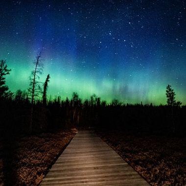 Beautiful night of Northern Lights