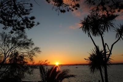 sunset at sandbanks beach