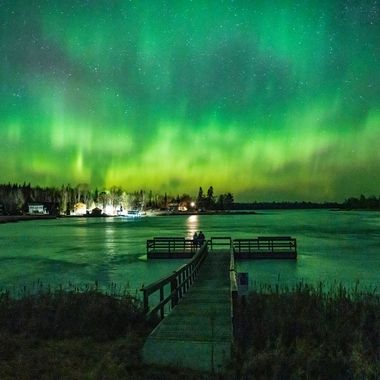 Lucky Couple that was able to catch this amazing light show! At Tilson Bay on Rainy Lake