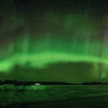 Northern Lights from Dove point on Rainy Lake in March