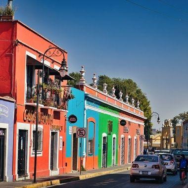 Street in Cholula/ Mexico