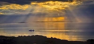 Sunset in East Lothian
