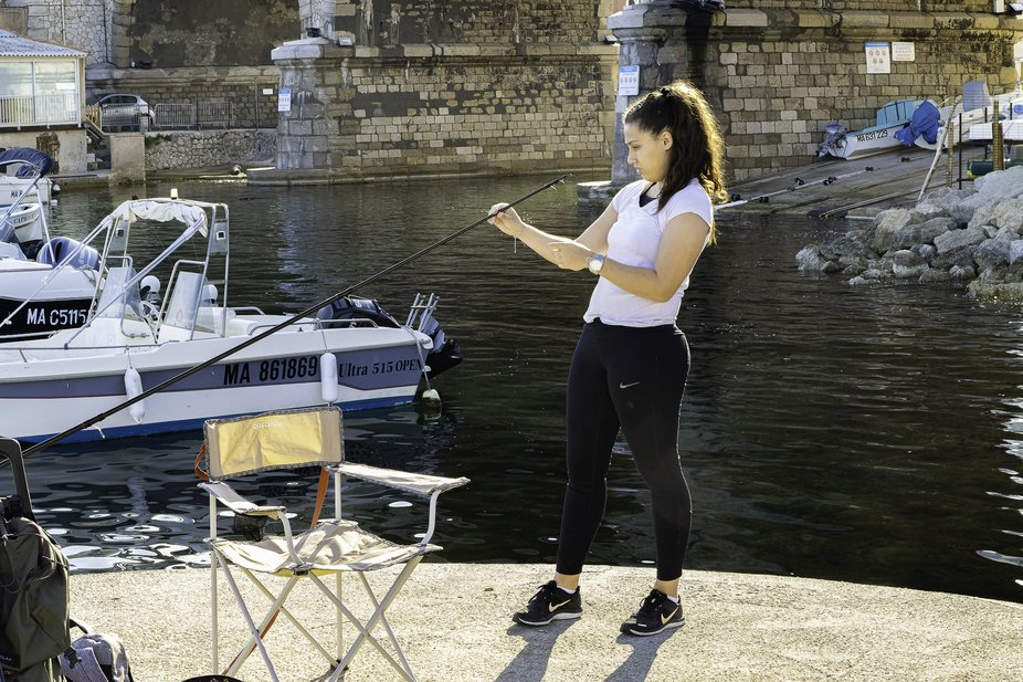 In Marseille fishing is as much appreciated as playing petanque ou having a drink.