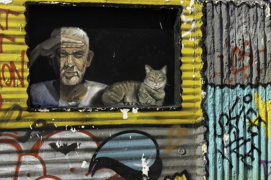 """Street art on the """"bar du vallons des Auffes"""""""