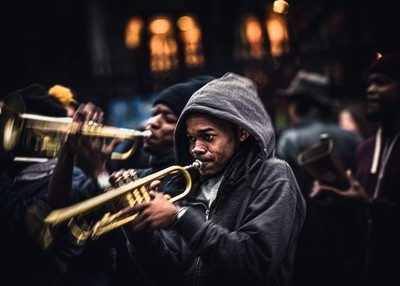 jazz in the streets of New Orlens