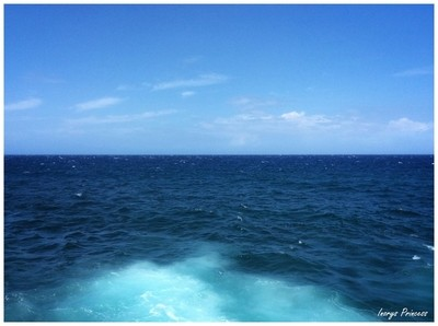 The blue sea and the blue sky!