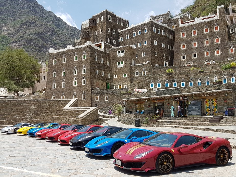 Fortunate to be on time for the Ferrari Club Exhibition in one of the Historical Sites in Saudi A...