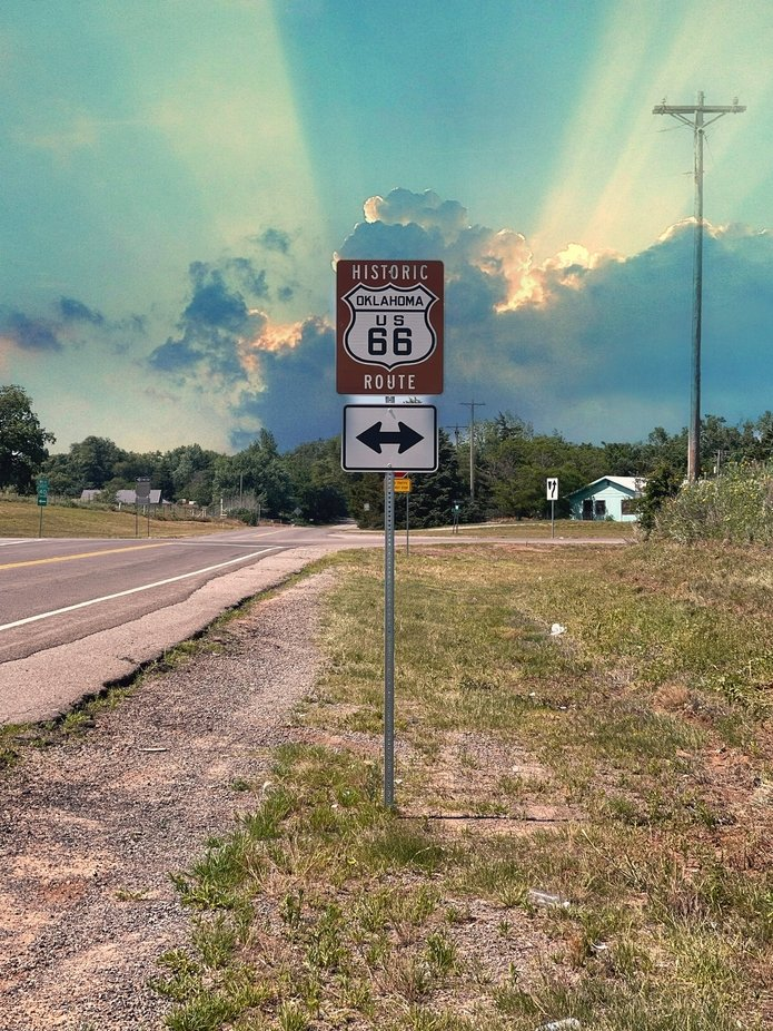 Famous Route 66 in Oklahoma