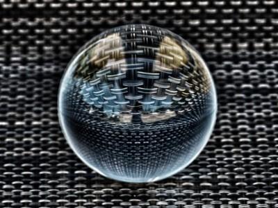Lensball place mat