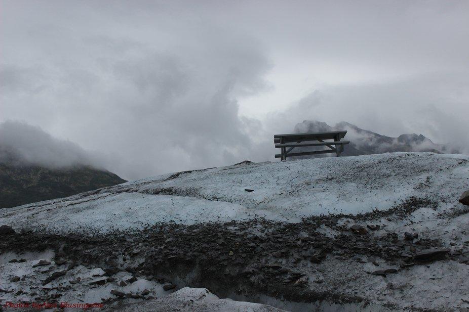 July 26,2015  Photo was taken at Matanuska Glacier, Alaska, while walking around on it.