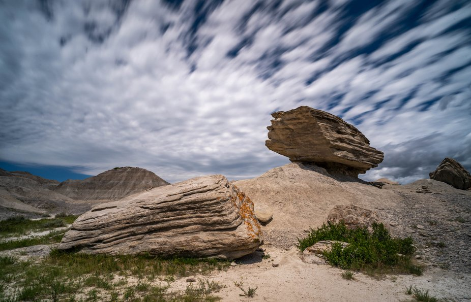 Clouds rolled in and I had my equipment with me. This park has all the rock formations you will n...