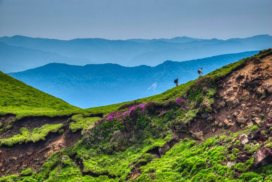 During our visit to Aso Geopark in Kyushu region in Japan, we hiked to Mt. Kishima-dake, climbing...