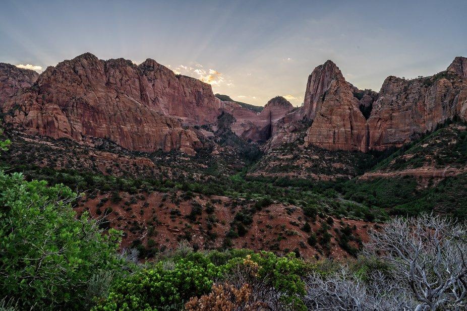 Sunrise Kolob Canyons Zion National Park