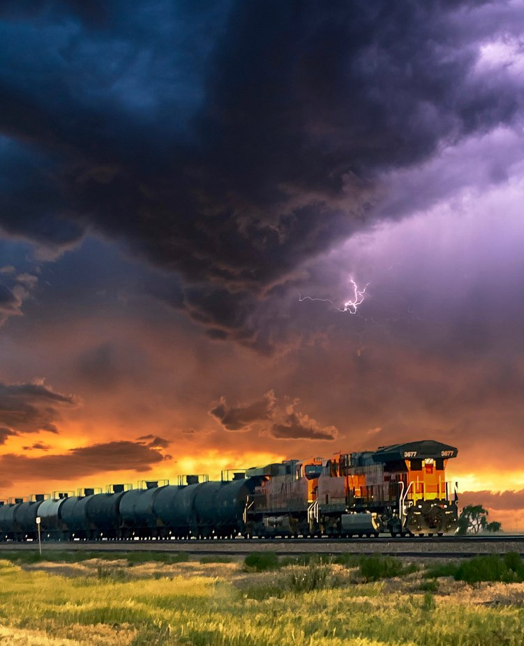 BNSF train near Amarillo Texas