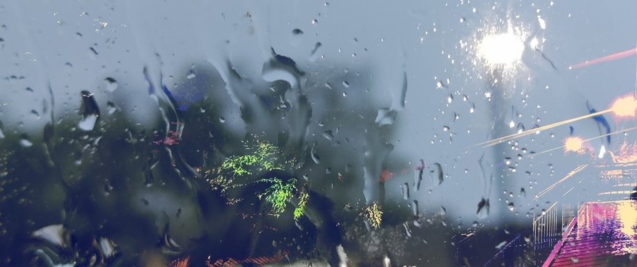Rain & trippy overlaid double exposure for p.i.