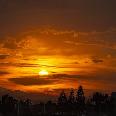 We don't get this kind of sunset view in Southern California very often, but when it happens, it is spectacular.