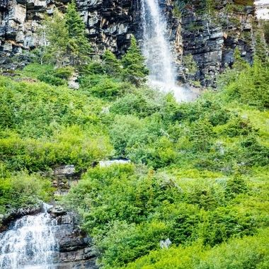 More waterfalls in Glacier national park. Seemed like everywhere you could point a camera you could find something interesting to take a picture of and it didn't disappoint.