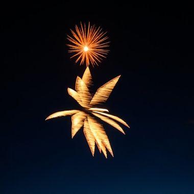July 3 fireworks in Orr, MN.