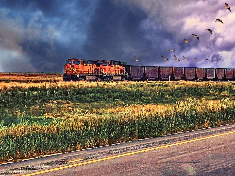 BNSF Train near Panhandle Texas