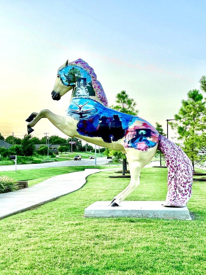 Painted horse in Shawnee Oklahoma