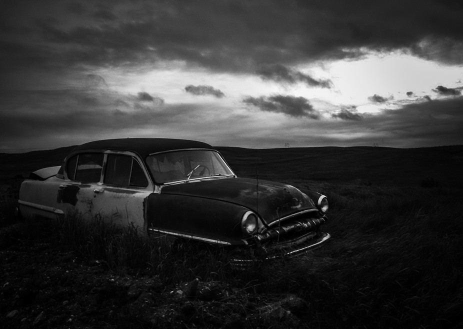 Took a drive while visiting family in North Dakota and came across this abandoned ole car. I love...