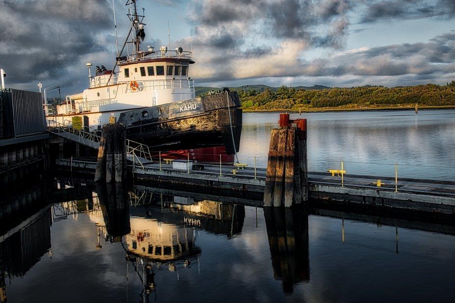 The tugboat Kahu in Coos Bay, Oregon