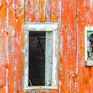 Orange barn boards