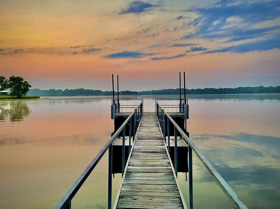 Sunrise on Holdenville Lake