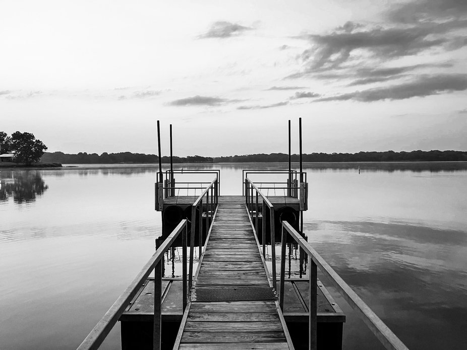 The dock at Holdenville Lake