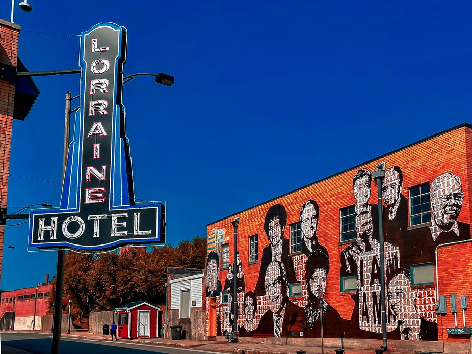 The famous Lorraine Hotel in Memphis Tennessee where Martin Luther King Jr. was shot and killed.