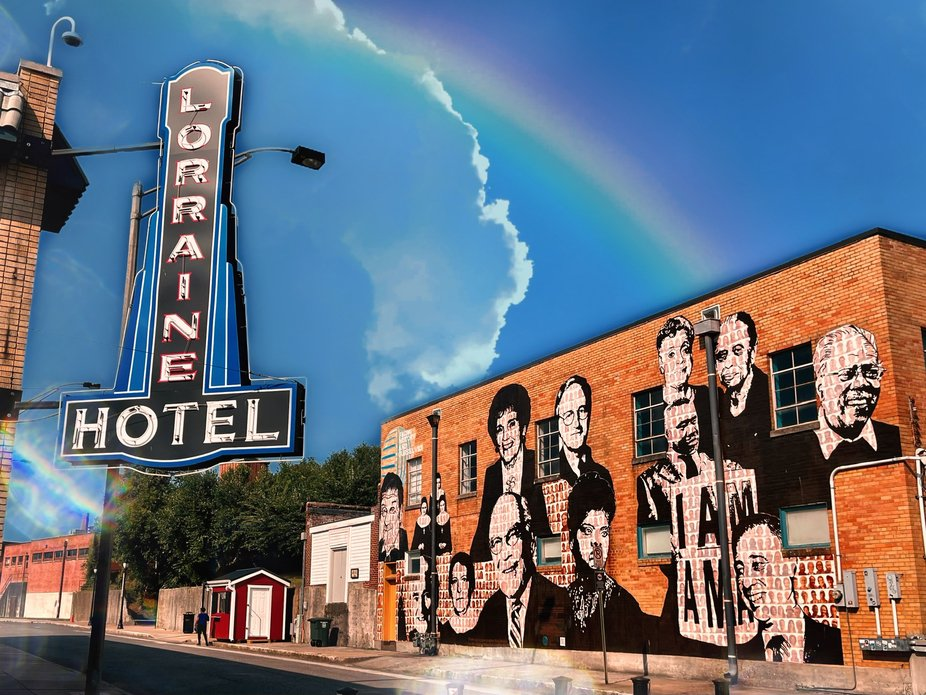 The Lorraine Motel with wall Mural