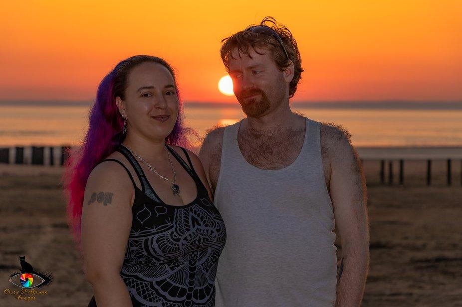 Me and Dan sunset at Brean