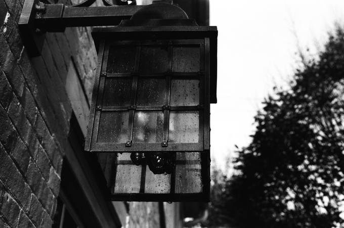 A capture of a lantern during unique lighting conditions not typically seen in the area.