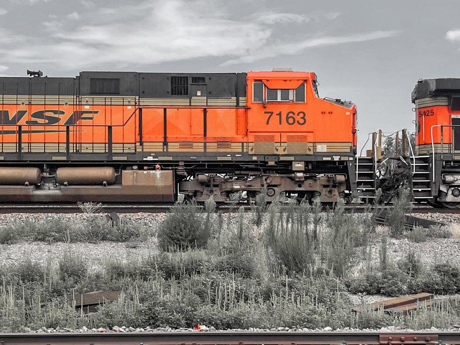 BNSF train near White Deer Texas