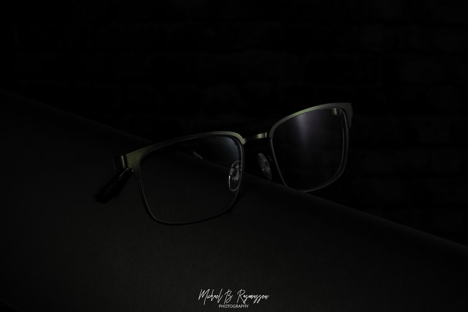 Dark product shot of a pair of glasses