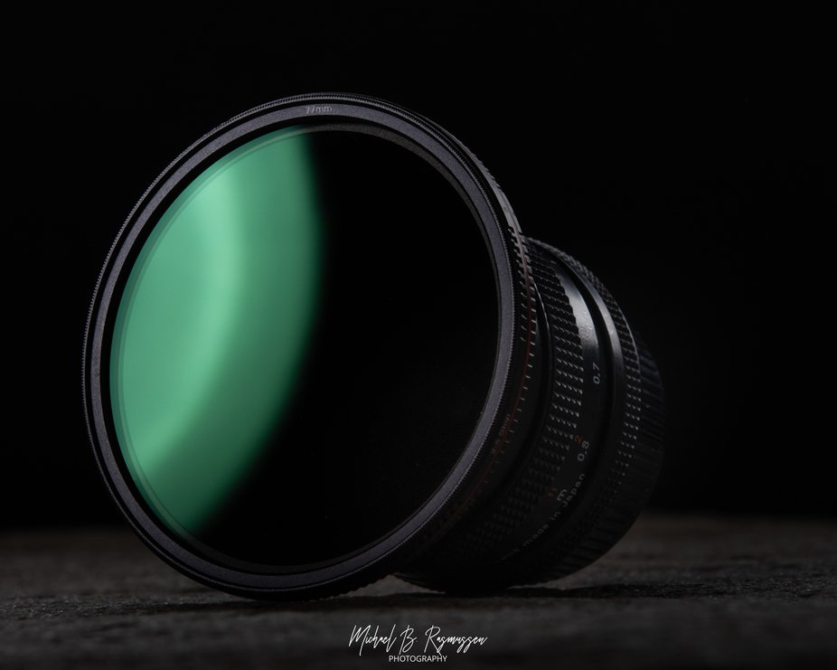 Product shot of a Freewell VND filter with magnetic lenscap off