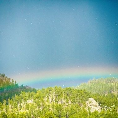 Hail and rainbows made for one unique experience at Crazyhorse in Custer, South Dakota.