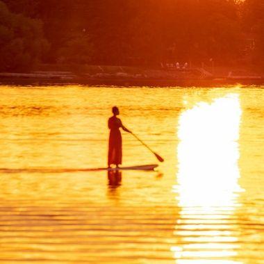 Beautiful sunset on Rainy Lake