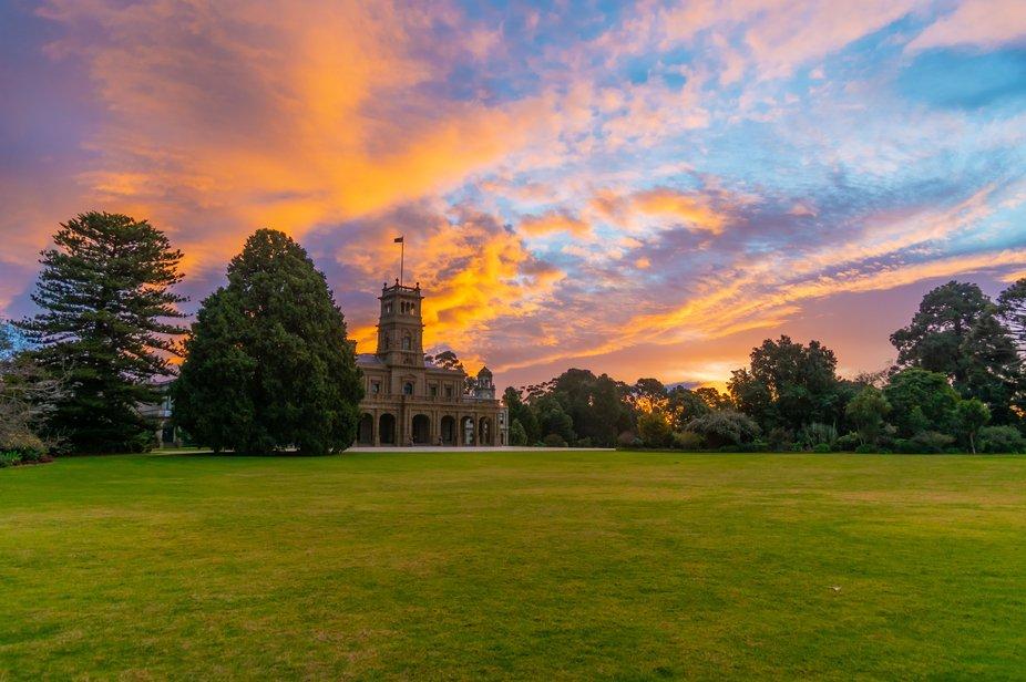 Werribee Park Mansion sunset